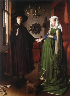 Portrait of Giovanni Arnolfini and his Wife (1434) By Van Eyck, National Gallery, London