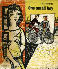 Gerard Dillon's jacket, with the painter's characteristic attention to setting and relationship, emphasises the gender theme in Naughton's semi-autobiographical novel. Jacket design by Gerard Dillon.