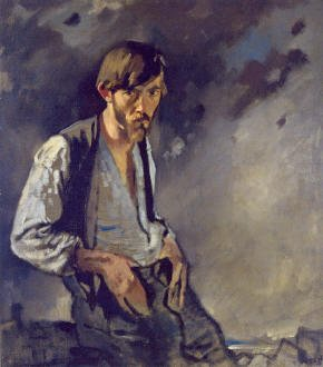 PLATE #5 Sir William Orpen (RA,RI,HRHA) Man of the West (Seán Keating) oil on linen, 107 x 97 cm Courtesy of Limerick City Gallery of Art, Ireland