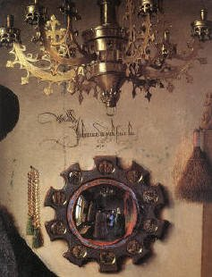 Detail of Portrait of Giovanni Arnolfini and his Wife