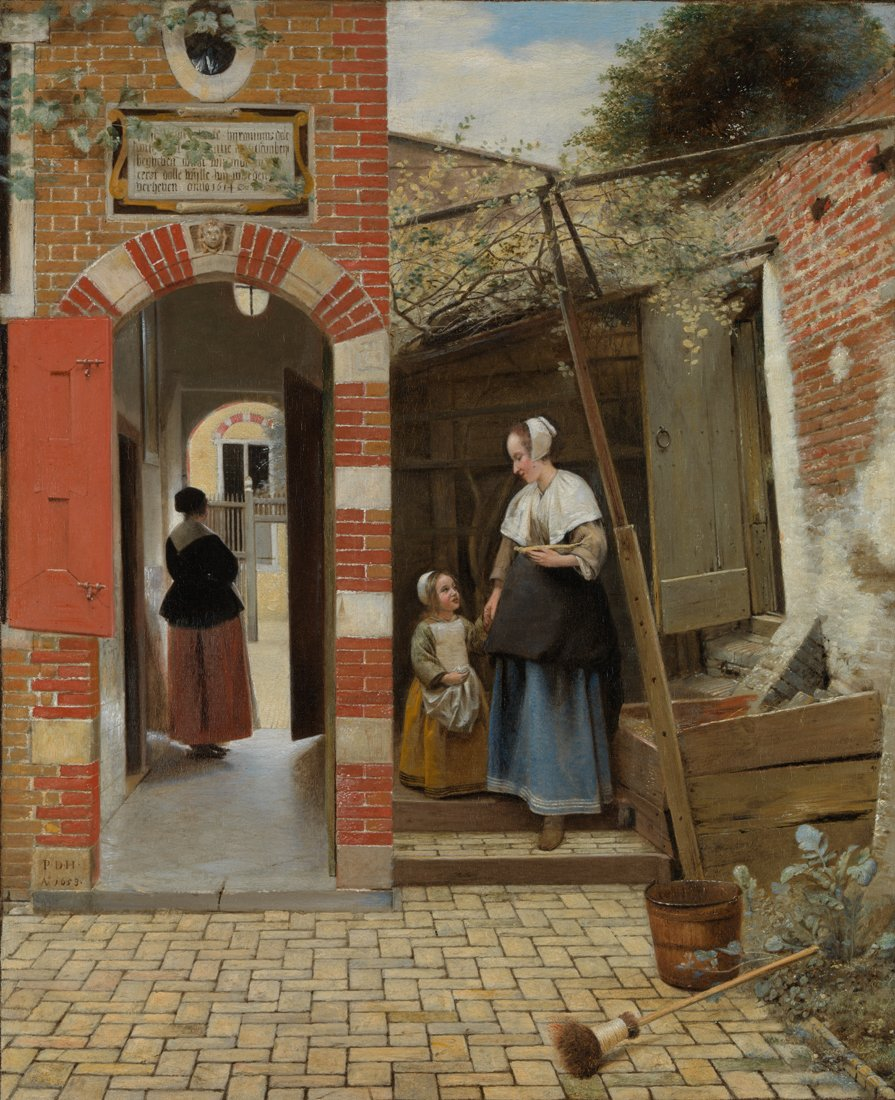 """The Courtyard of a House in Delft""  Pieter de Hooch, 1659 © The National Gallery, London"