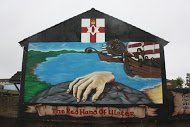 Fig 10 The Red Hand of Ulster, Boundary Way, Lower Shankill, 2014