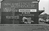 Fig 14 On the Blanket, Finaghy Road North, Belfast, 1981