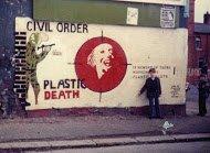 Fig 16 Plastic death, Whiterock Road, Belfast, 1982
