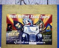 Fig 2 West Belfast taxi  tours Divis St., Falls, 2004