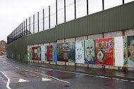 Fig 4 Cupar Way, Peace Line, Loyalist side, 2010.