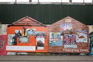 Fig 5 Changing Faces, Cupar Way, Peace Line, Loyalist side, 2010