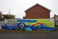 Fig 83 Community mural, North Queen St, Tigers Bay, Belfast, 2010